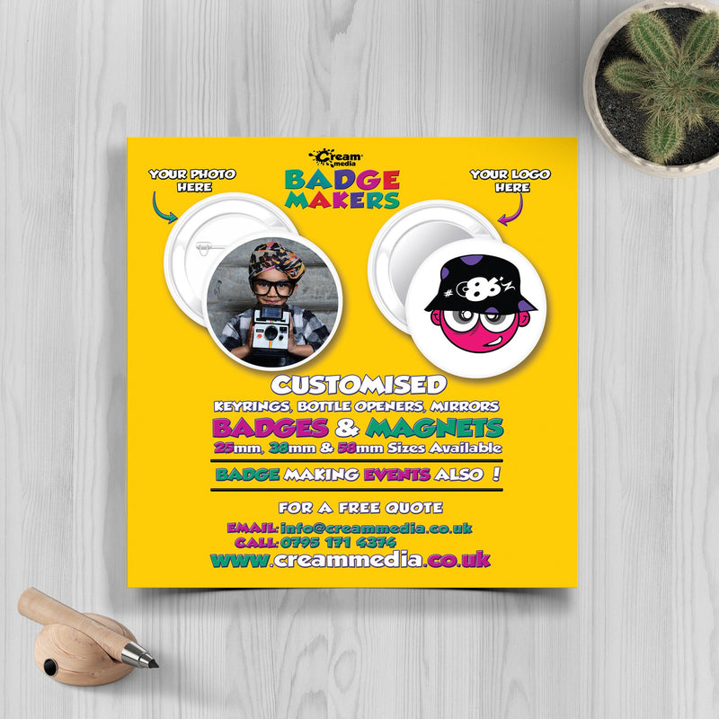 CD Size Flyers 400gsm
