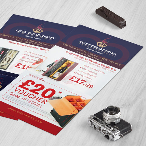 2/3 A4 Flyers 400gsm Matt Laminated