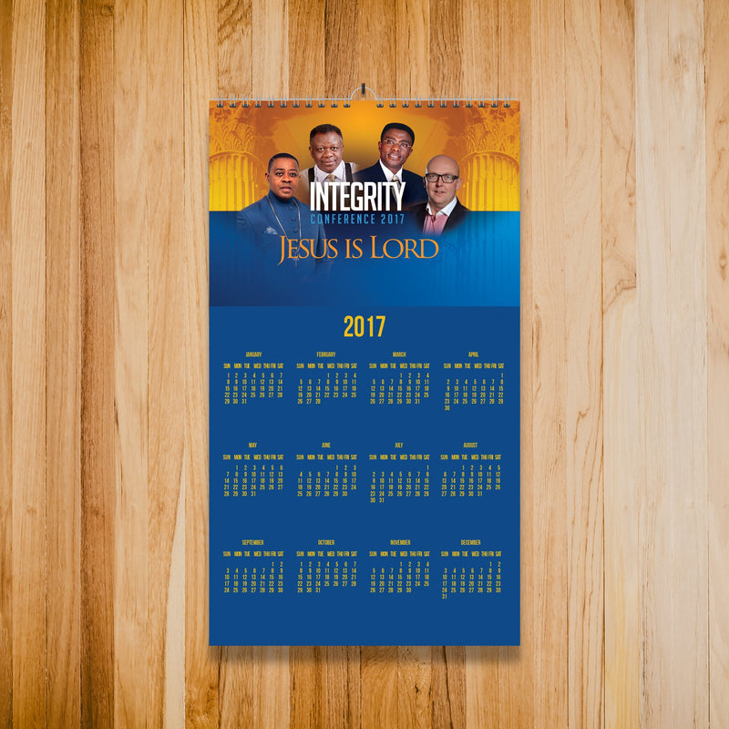 Mini Wall Calendar (138mm x 297mm)