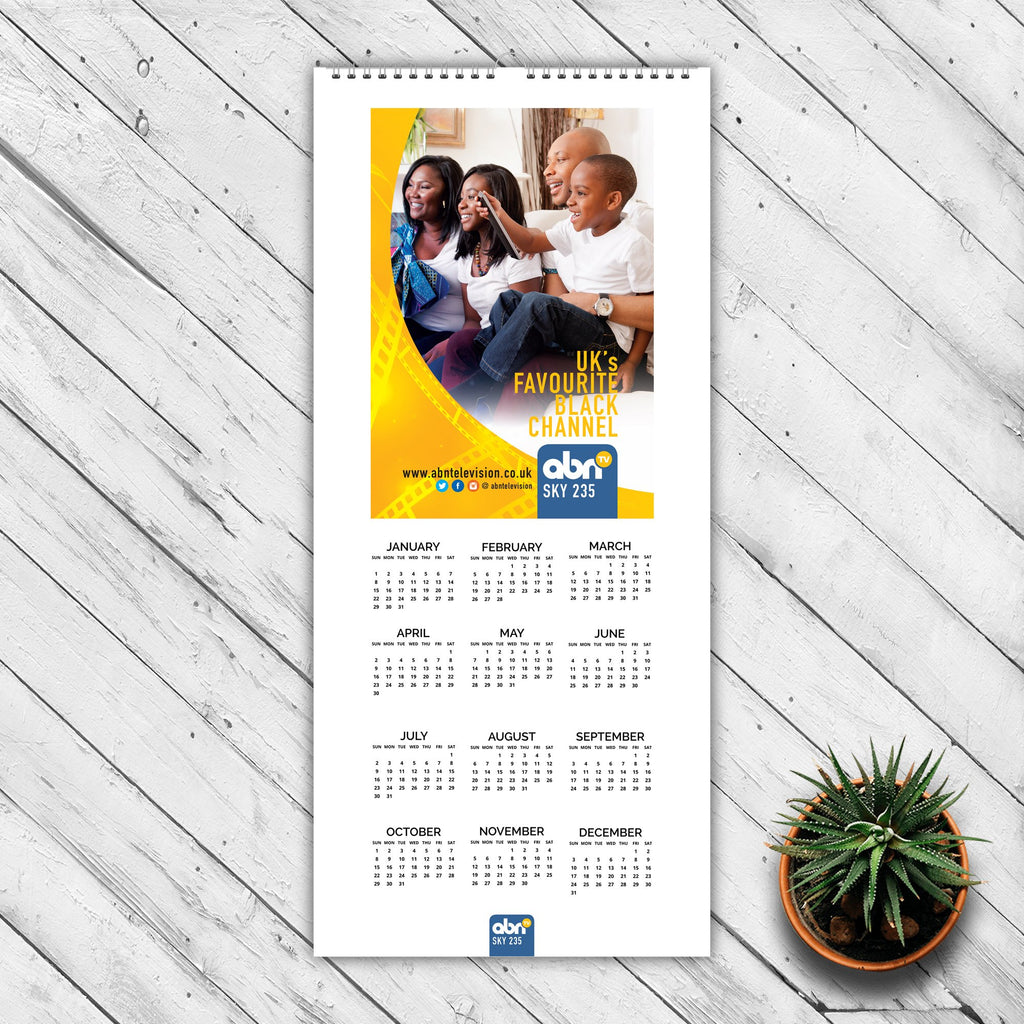 Slim Wall Calendar (148mm x 420mm)