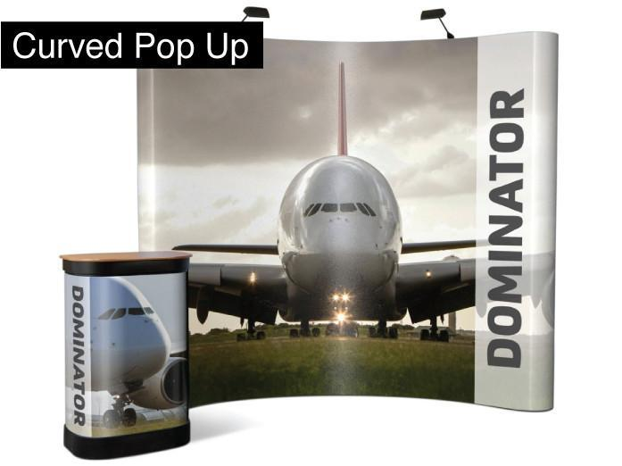 Curved Pop Up Display (single sided)