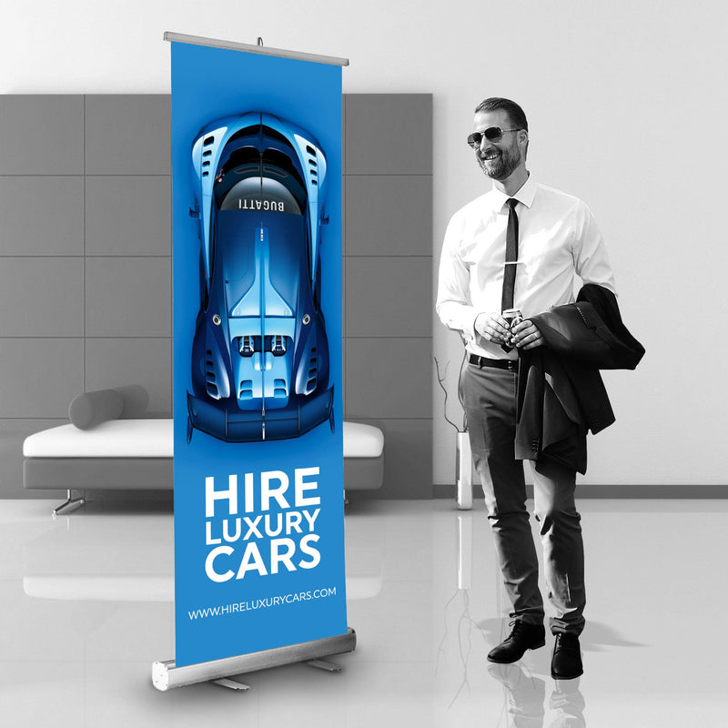 Roller Banners 600mm x 2000mm (prices based on 1 artwork)
