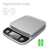 Digital Kitchen Scale 11 lb Food Weighing, Lightweight Elegant New Design