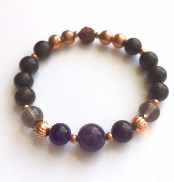 Amethyst Copper Goddess