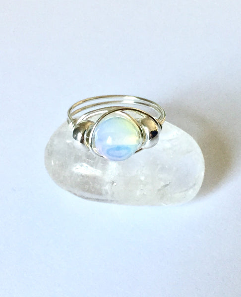 Opalite Sterling Energy Ring
