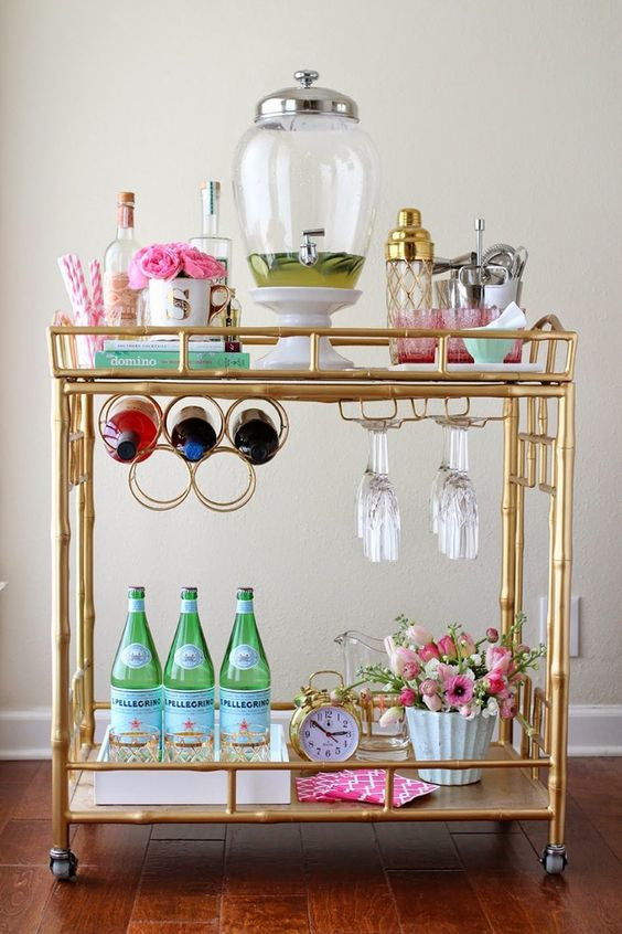 How to Style your Own Bar Cart!
