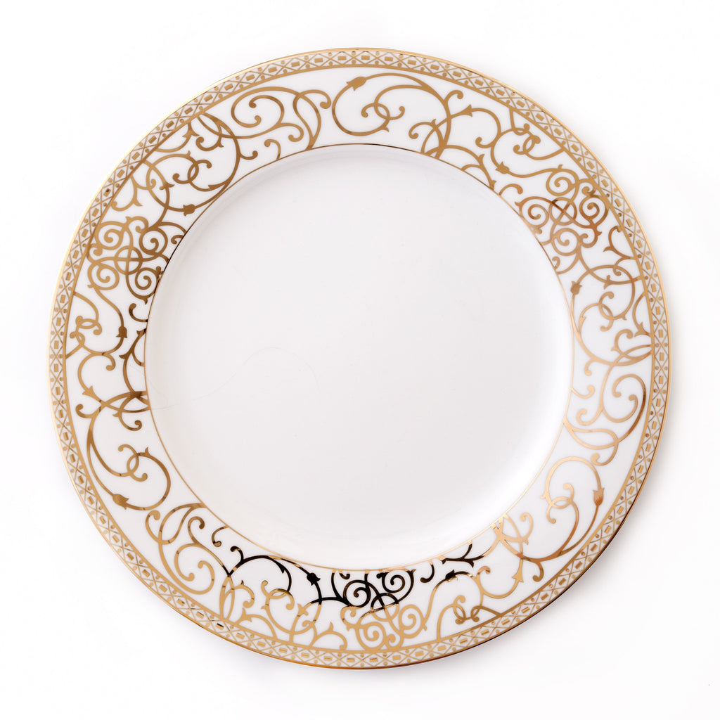 Round Platter-Athena 24kt Gold Collection
