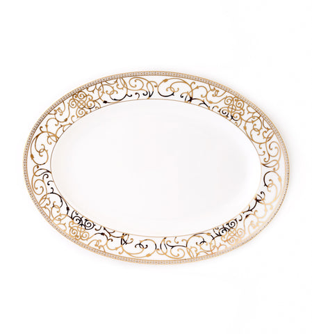 Oval Platter-Athena 24kt Gold Collection