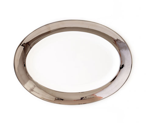 Oval Platter-Monaco Platinum Collection