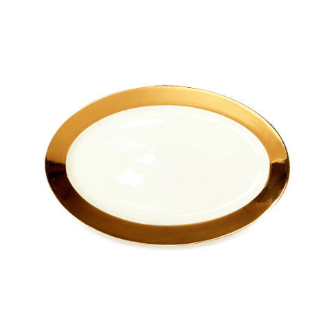 Oval Platter - Monaco 24kt Gold Collection