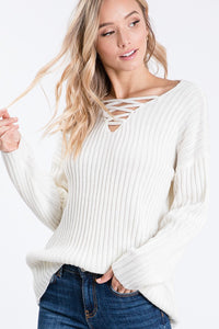 White Cage Sweater