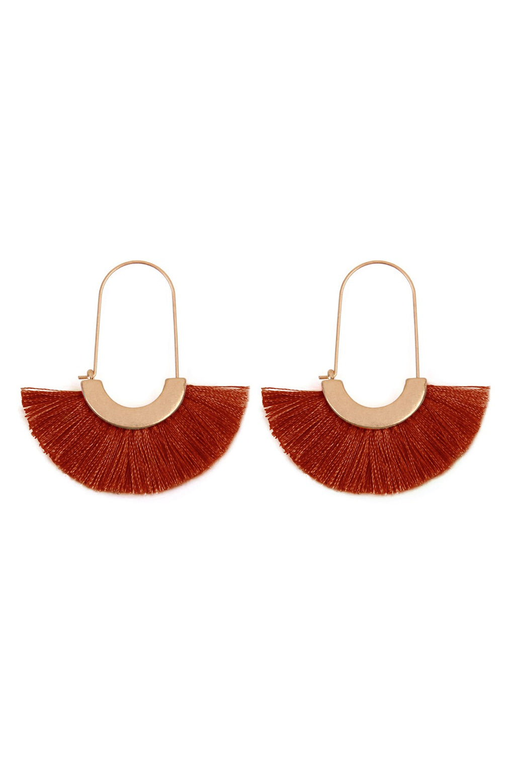 Rust Fan Earrings