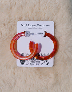 Red Acetate Hoops