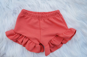 Baby Ruffled Shorts {Pink}