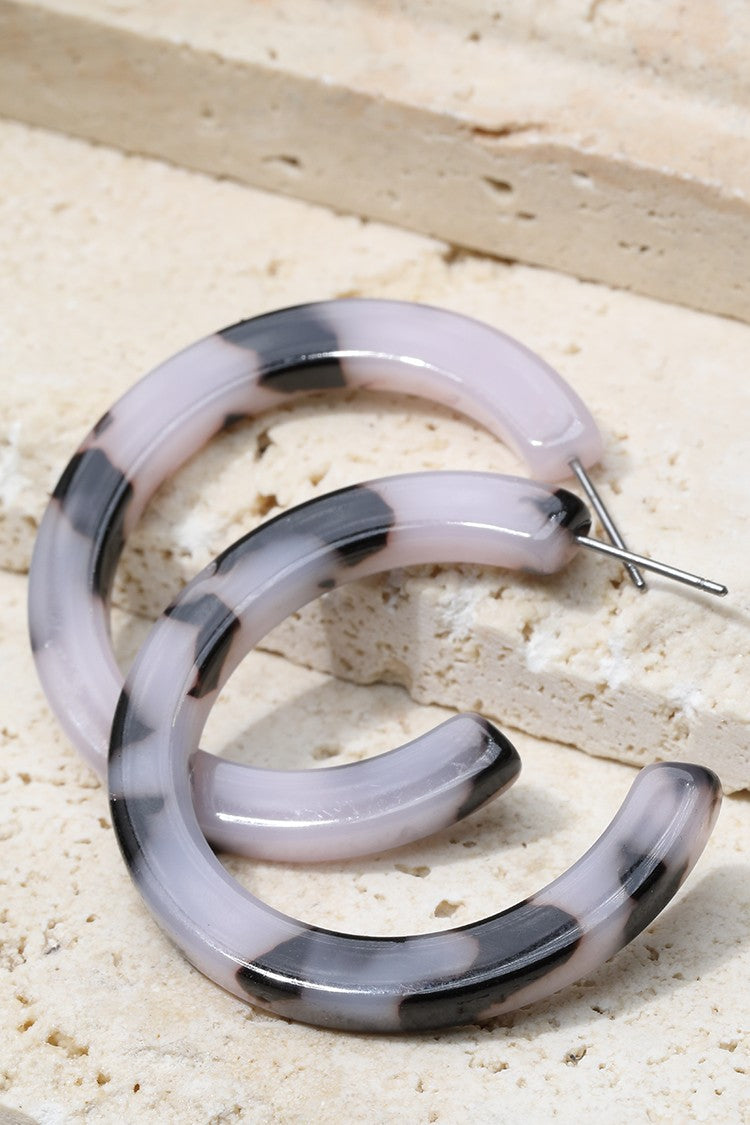 White Tortoise Hoops