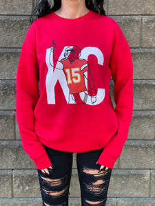 Pat Sketch Sweatshirt {Red}