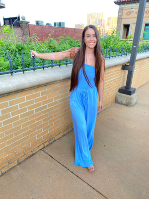 Sky Smocked Jumpsuit