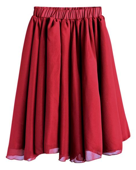 Aurora Maxi Skirt {Wine}