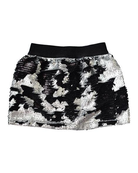 Black/Silver Magic Sequin Skirt