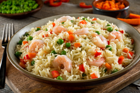 Creamy Parmesan Shrimp and Rice
