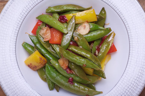 Chili Garlic Snap Pea and Pepper Blend