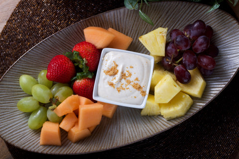 Brown Sugar Fruit Dip w Fruit