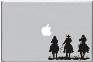 Three Horse Riders Riding Into Sunset Decal for Macbook Sticker Laptop Comput... - ezwalldecals vinyl decal - vinyl sticker - decals - stickers - wall decal - jdm decal - vinyl stickers - vinyl decals - 1