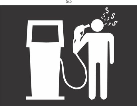 Gas Prices Shooting Head Decal Sticker Window Car Truck Van Suv - ezwalldecals vinyl decal - vinyl sticker - decals - stickers - wall decal - jdm decal - vinyl stickers - vinyl decals - 1