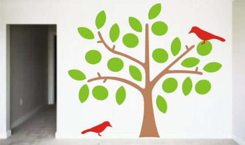 Beautiful Tree with Birds Decal Sticker Wall Vinyl Nature Children Baby - ezwalldecals vinyl decal - vinyl sticker - decals - stickers - wall decal - jdm decal - vinyl stickers - vinyl decals - 1