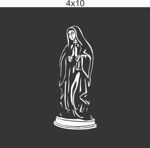 Virgin Mary Vinyl Decal Sticker Window Car Truck Van Suv - ezwalldecals  - vinyl decal - vinyl sticker - decals - stickers - wall decal - jdm decal - vinyl stickers - vinyl decals - 1