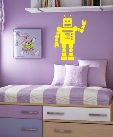 Robot Decal Sticker Wall Kid Room Child Nursery Boy Girl Teen - ezwalldecals  - vinyl decal - vinyl sticker - decals - stickers - wall decal - jdm decal - vinyl stickers - vinyl decals - 1