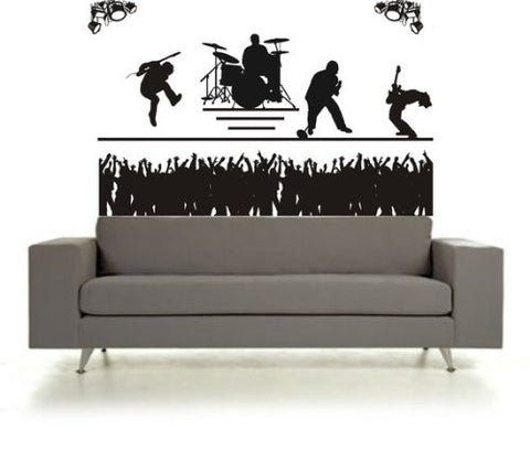 BIG BIG BIG Rock Band Concert and Crowd Sticker Wall Decal Music Kid Teen - ezwalldecals vinyl decal - vinyl sticker - decals - stickers - wall decal - jdm decal - vinyl stickers - vinyl decals - 1