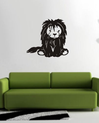 Lion Decal Sticker Wall King of the Jungle Boy Girl Nursery Children Teen Kid - ezwalldecals  - vinyl decal - vinyl sticker - decals - stickers - wall decal - jdm decal - vinyl stickers - vinyl decals - 1