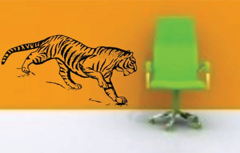 Wall Art Vinyl Decals Mural - Large Tiger - ezwalldecals  - vinyl decal - vinyl sticker - decals - stickers - wall decal - jdm decal - vinyl stickers - vinyl decals - 1