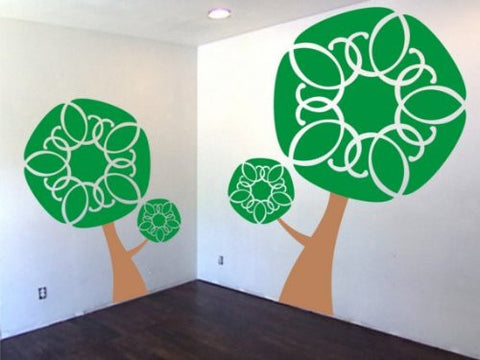 TWO Beautiful Trees Vinyl Decal Sticker Wall Nature Nice Pretty Children Boy - ezwalldecals  - vinyl decal - vinyl sticker - decals - stickers - wall decal - jdm decal - vinyl stickers - vinyl decals - 1