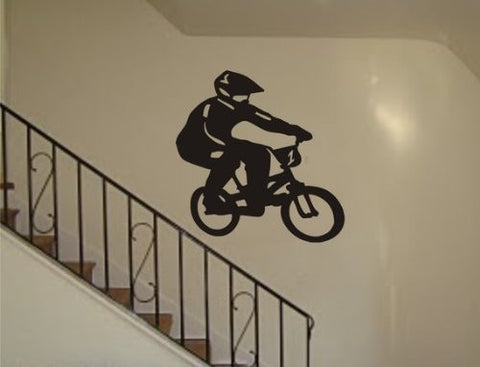 Biker Decal Sticker Wall Sports Cool Boy Girl Nursery Bmx Bike - ezwalldecals  - vinyl decal - vinyl sticker - decals - stickers - wall decal - jdm decal - vinyl stickers - vinyl decals - 1