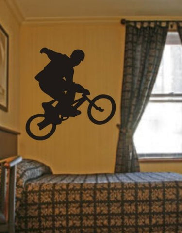 BMX Rider Decal Sticker Bike Bicycle X Games Racing Boy Teen Wall Vinyl Decal - ezwalldecals  - vinyl decal - vinyl sticker - decals - stickers - wall decal - jdm decal - vinyl stickers - vinyl decals - 1