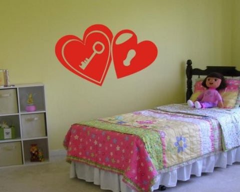 Key to My Heart Decal Sticker Wall Love Cute Girl Teen Nursery Baby Bedroom - ezwalldecals  - vinyl decal - vinyl sticker - decals - stickers - wall decal - jdm decal - vinyl stickers - vinyl decals - 1