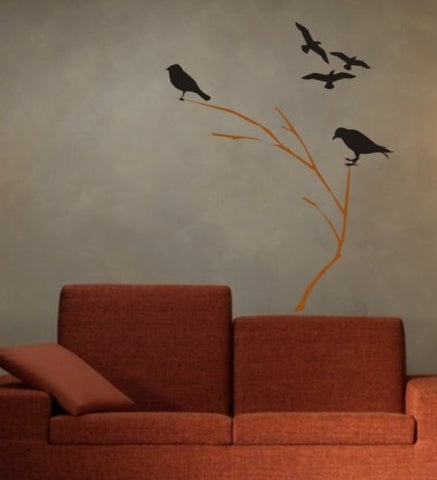 Birds and Branches Decal Sticker Wall - ezwalldecals vinyl decal - vinyl sticker - decals - stickers - wall decal - jdm decal - vinyl stickers - vinyl decals - 1