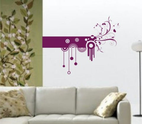Abstract Design Wall Decal Sticker Modern Circles Nature Cool Geekery - ezwalldecals  - vinyl decal - vinyl sticker - decals - stickers - wall decal - jdm decal - vinyl stickers - vinyl decals - 1