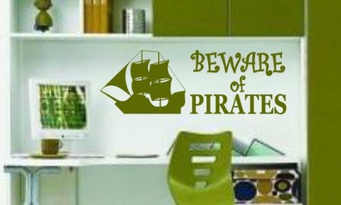 Beware of Pirates Decal Sticker Wall Decor Kid Boy Girl Room Nursery - ezwalldecals  - vinyl decal - vinyl sticker - decals - stickers - wall decal - jdm decal - vinyl stickers - vinyl decals - 1
