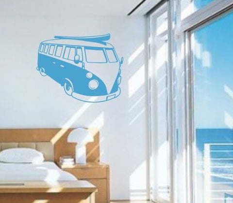 VW Bus Decal Sticker Wall Mural Art Graphic Beach Bug Volkswagon Beetle Car - ezwalldecals vinyl decal - vinyl sticker - decals - stickers - wall decal - jdm decal - vinyl stickers - vinyl decals - 1