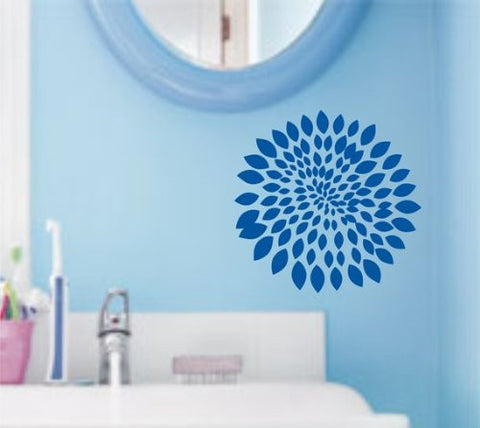 Flower Bloom Decal Sticker Wall Art Graphic Version 1 - ezwalldecals  - vinyl decal - vinyl sticker - decals - stickers - wall decal - jdm decal - vinyl stickers - vinyl decals - 1