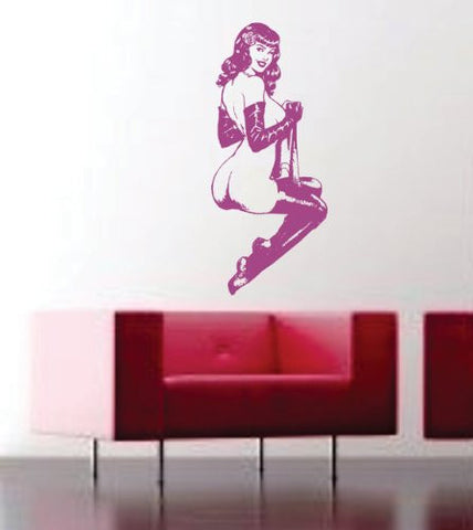 Retro Pin Up Wall Vinyl Decal Sticker Art Graphic Version 1 - ezwalldecals vinyl decal - vinyl sticker - decals - stickers - wall decal - jdm decal - vinyl stickers - vinyl decals - 1