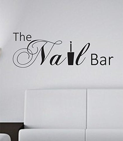 The Nail Bar Nail Tech Store Business Logo Version 102 Decal Sticker Wall - ezwalldecals  - vinyl decal - vinyl sticker - decals - stickers - wall decal - jdm decal - vinyl stickers - vinyl decals - 1