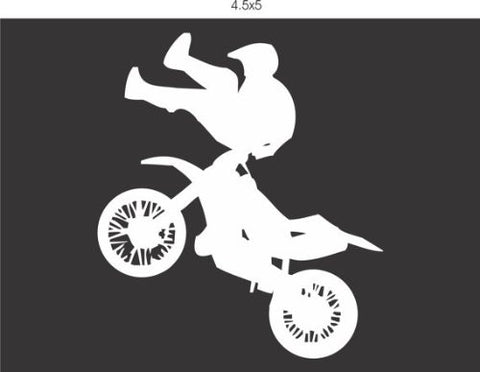 Dirtbike Decal Sticker Window Car Truck Van Suv Series Two - ezwalldecals vinyl decal - vinyl sticker - decals - stickers - wall decal - jdm decal - vinyl stickers - vinyl decals - 1