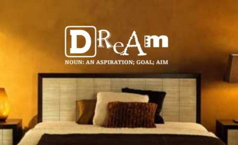Dream Definintion Wall Decal Sticker Meaning Dreams Sleep Goal Inspiration - ezwalldecals  - vinyl decal - vinyl sticker - decals - stickers - wall decal - jdm decal - vinyl stickers - vinyl decals - 1