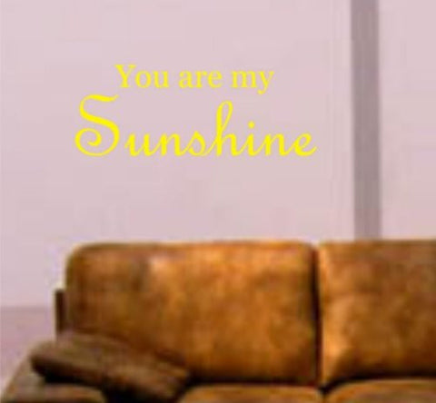 You Are My Sunshine Decal Sticker Wall Vinyl Beautiful Cool Nice Quote Words - ezwalldecals  - vinyl decal - vinyl sticker - decals - stickers - wall decal - jdm decal - vinyl stickers - vinyl decals - 1