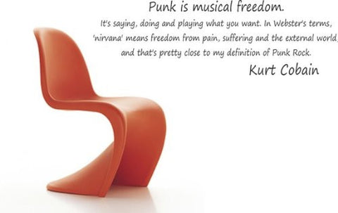Punk Is Musical Freedom Wall Decal Quote Kurt Cobain Music Grunge Sticker - ezwalldecals  - vinyl decal - vinyl sticker - decals - stickers - wall decal - jdm decal - vinyl stickers - vinyl decals - 1