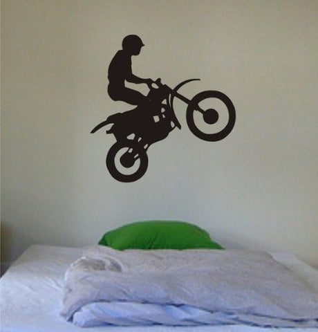 Dirtbike Rider Decal Sticker Wall Vinyl Sports Bike Children Cool Boy Girl Nice - ezwalldecals vinyl decal - vinyl sticker - decals - stickers - wall decal - jdm decal - vinyl stickers - vinyl decals - 1